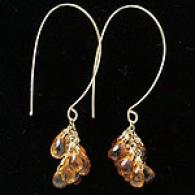 Zoe Chicco 18k & Citrine Grow in bunches Threader Earrings