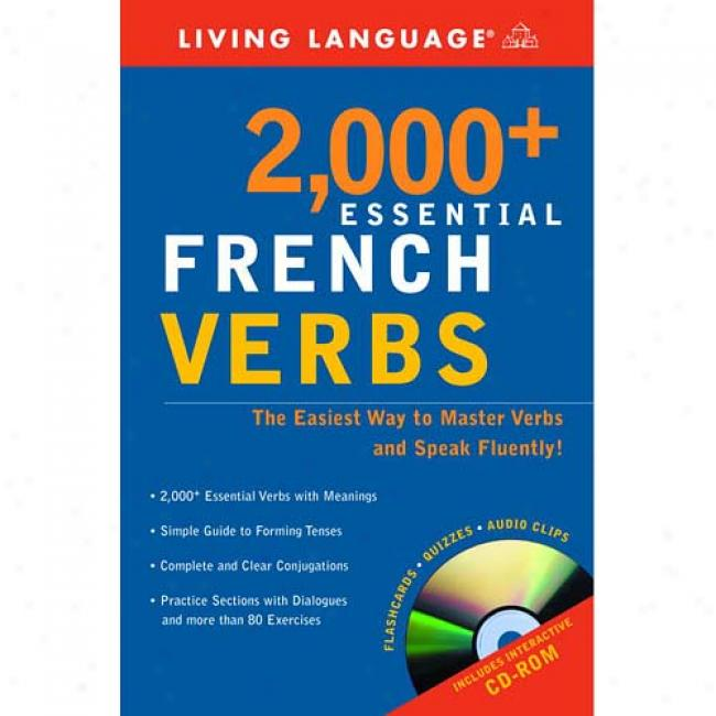 2000+ Essential French Verbs By Living Language, Isbn 1400020530
