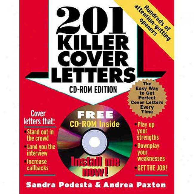 201 Killer Cover Letters With Cdrom By Sandra Podesta, Isbn 0071413294