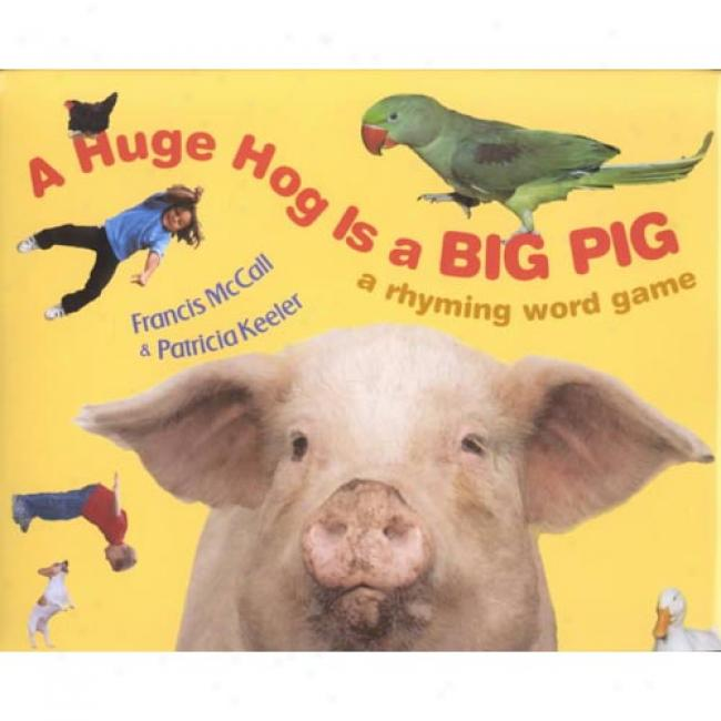 A Huge Hog Is A Big Pig: A Rhyming Word Game By Francis X. Mccall, Isbn 0060297654