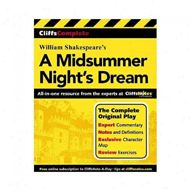 A Midsummer-night's Dream By William Shakespeare, Isbn 0764587250