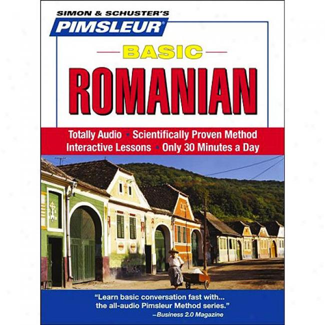 Basic Romanian: Learn To Speak And Understand Romanian With Pimsleur Languagd Programs [with Cd Case]