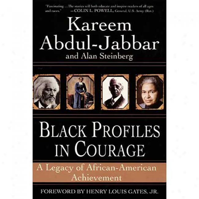 Black Profiles On Fearlessness By Kareem Abdul-jabbar, Isbn 0380813416