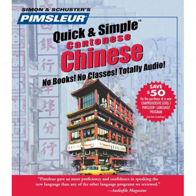 Chinese Cantonese I By Pimsleur, Isbn 0743500164