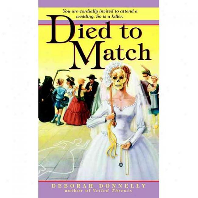 Died To Match By Deborah Donnelly, Isbn 0440237041