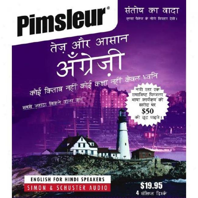 English For Hindi By Pimsleur Language Programs, Isbn 067179072x