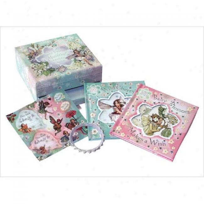 Blossom Fairies Musical Treasure Chest With Book(s) And Sticker And Jewelry