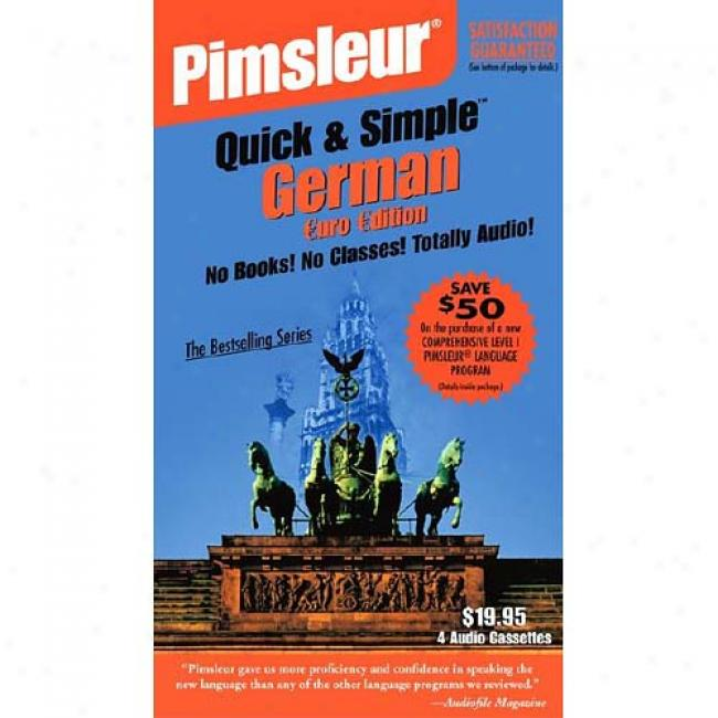 German I By Pimsleur Language Programs, Isbn 0743509528