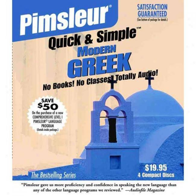 Greek (modern) I By Pimsleur, Isbn 0684874288