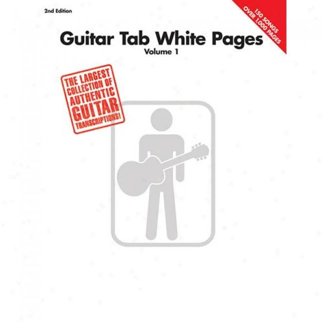 Guitar Tab White Pages By Hal Leonard Publishing Corporation, Isbn 0634O26119