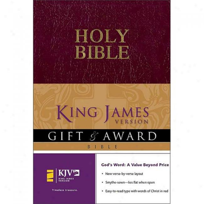 Holy Bible: King James Version, Burgundy Leather-look, Gift And Award