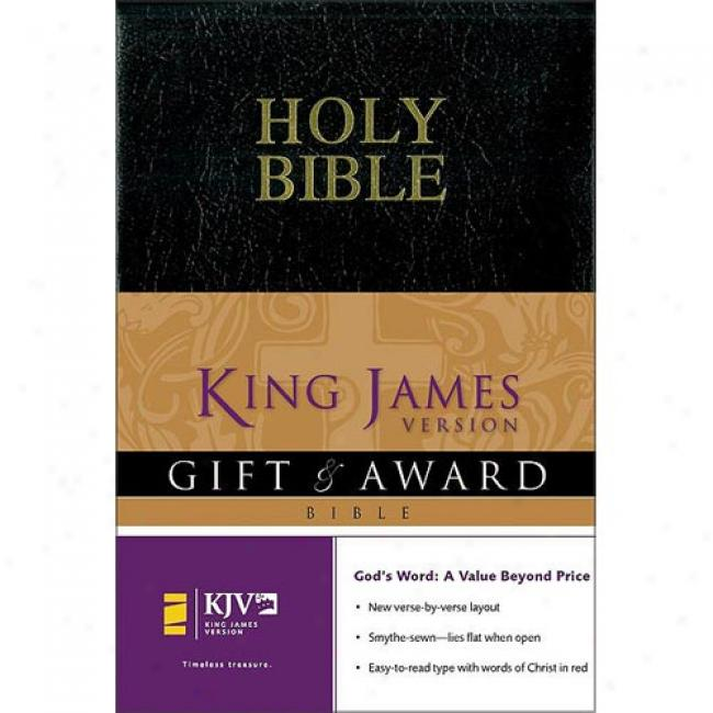 Holy Bible, King James Version: Gift & Award Black Leather Look