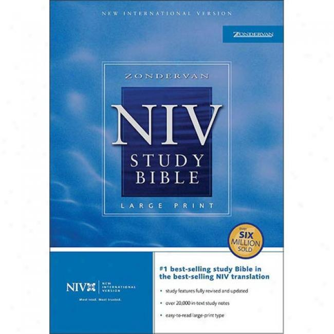 Holy Bible: The New International Verion Study Bible/large Print/burgundy Bonded Leather/indexed