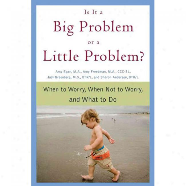 Is It A Big Problem Or A Little Problem?: Wgen To Worry, When Not To Worry, And Whqt To Do