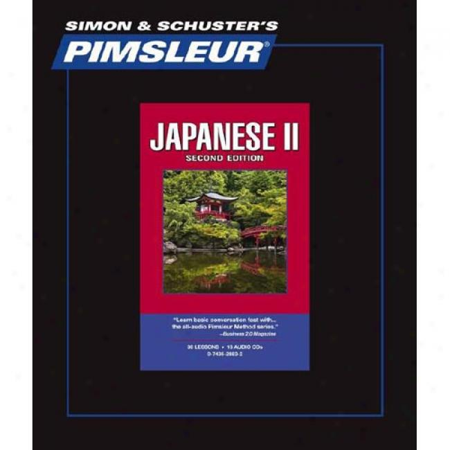 Japanese Ii, 2nd Ed. Comprehensive Cd By Pimsleur, Isbn 0743528832