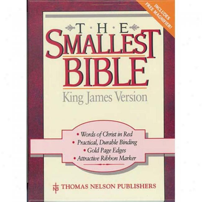 King James Version Smallest Bible Leatherflex Black By Nelsonword, Isbn 0840705506
