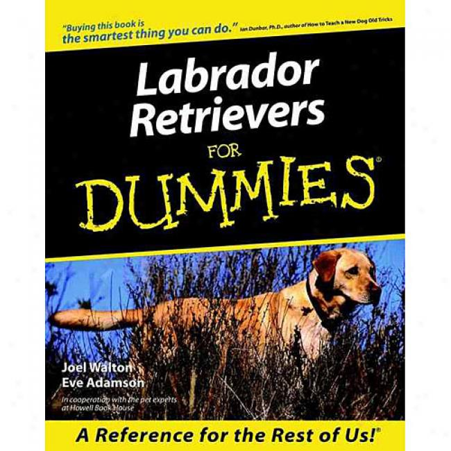 Labrador Retrievers For Dummies By Joel Walton, Isbn 0764552813