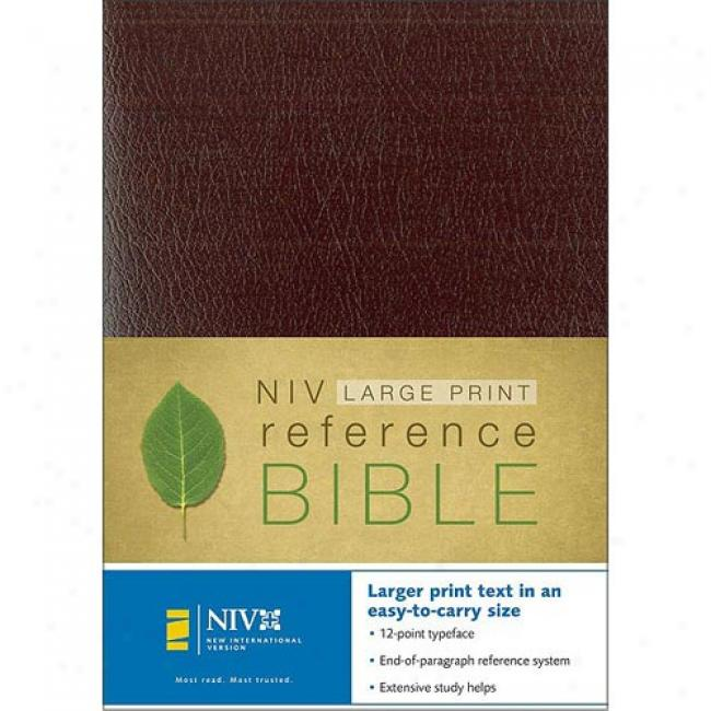 Large Print Reference Bible By Zondervan, Isbn 031090577x