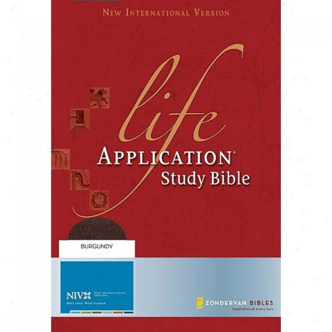 Life Application Study Bible: New International Verison, Thumb Indexed, Burgundy Bonded Leather