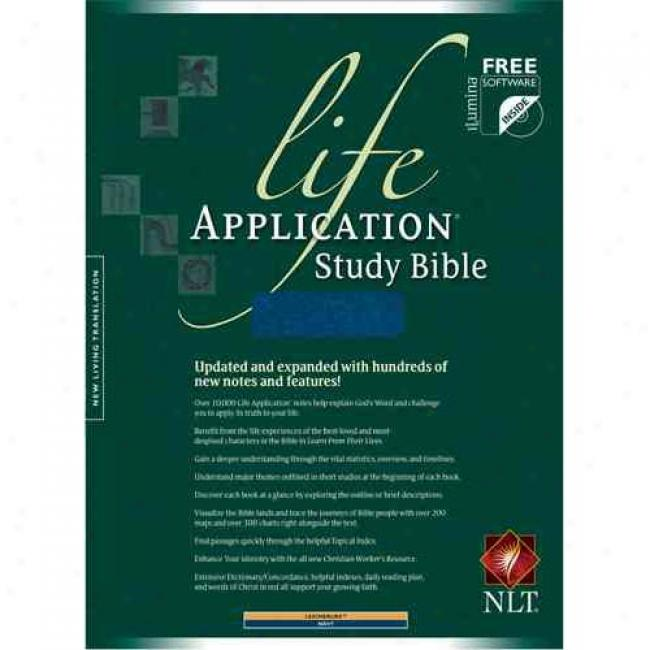 Life Application Study Bbile: New Quickening Translation, Leather Like Navy Thumb Indexed