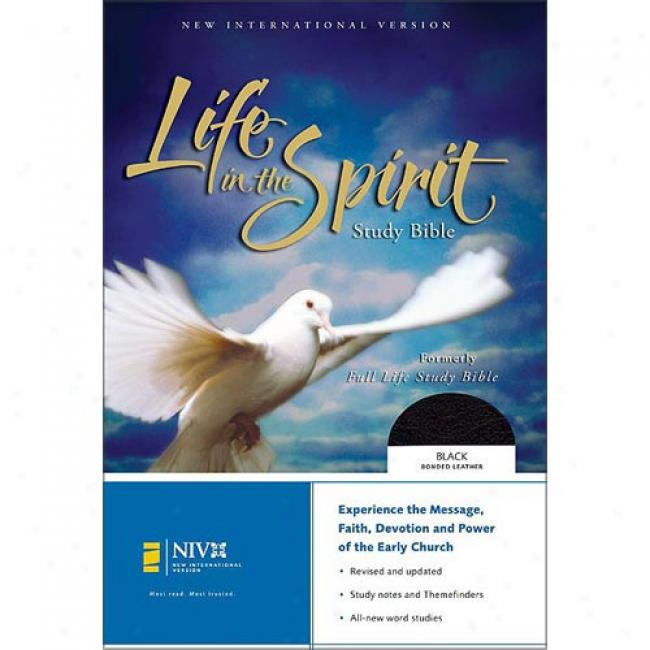 Liife In The Spirit Study Bible: New International Version, Black Bonded Leather