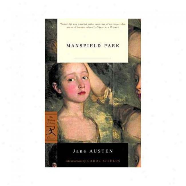 Mansfield Park By Jane Austen, Isbn 0375757813