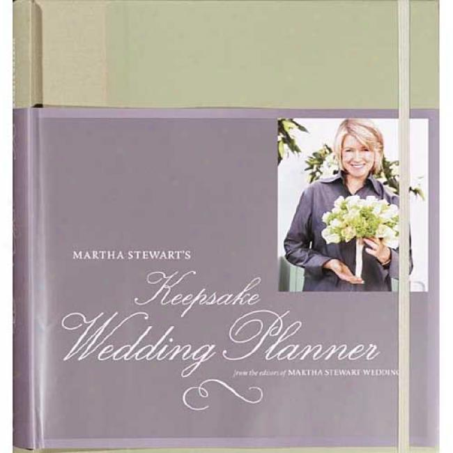 Martha Stewart's Keepsake Wedding Planner By Martha Stewart, Isbn 1400048001
