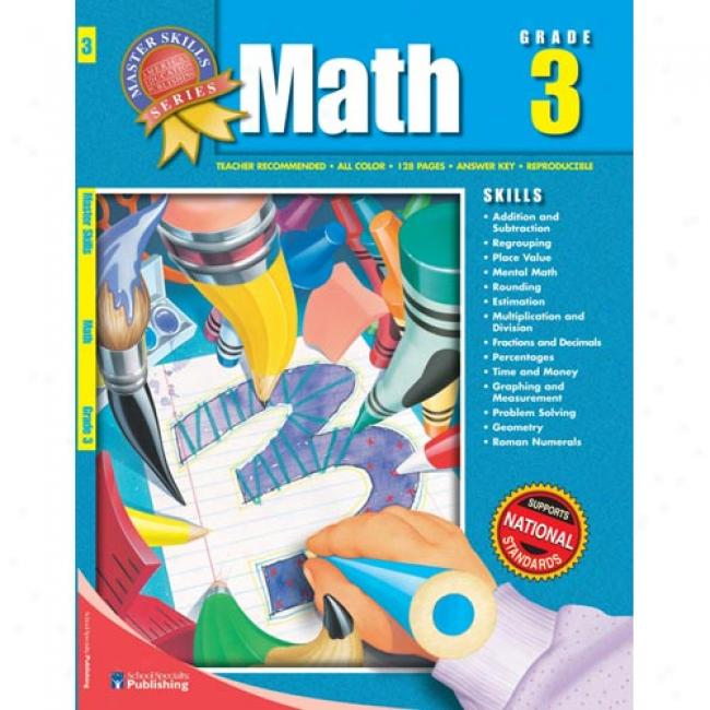 Master Skills Math Grade 3 By American Education Publishing, Isbn 1561890138