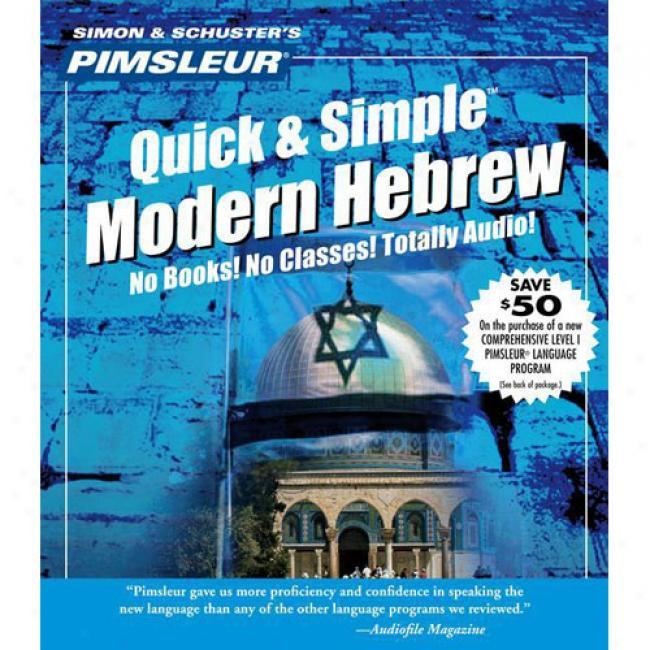 Modern Hebrew I From Pimsleur Language Programs, Isbn 0671790854