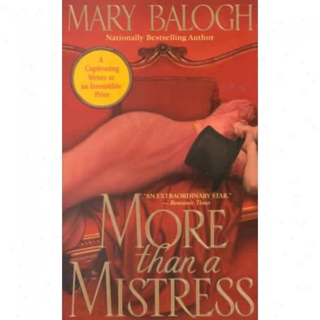 More Than A Mistress By Mary Balogh, Isbn 0440226015