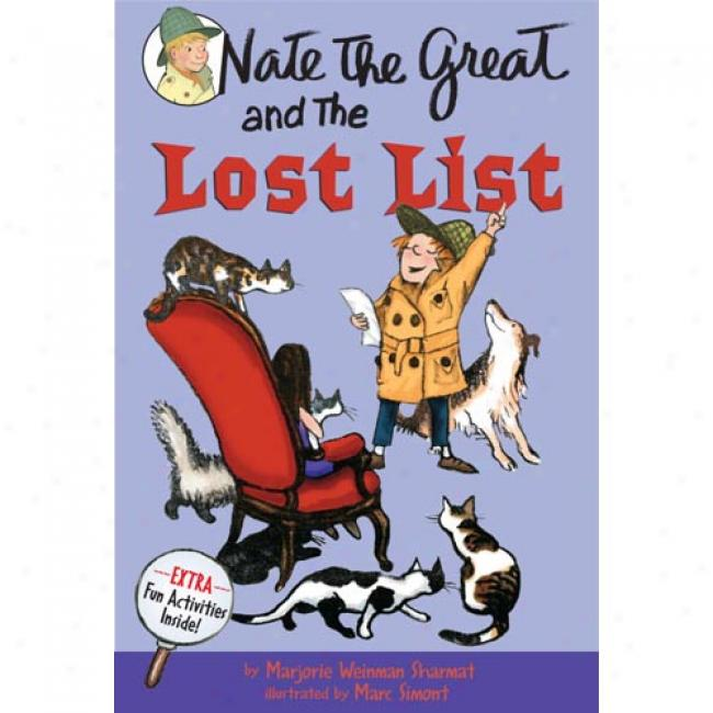 Nate The Great And The Lost List By Marjoeie Weinman Sharmat, Isbn 0440462827