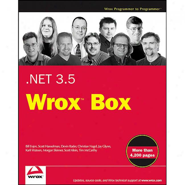 Net 3.5 Wrox Box: Professional Asp.net 3.5, Professional C# 2008, Professional Linq, .net Domain-driven Design With C#