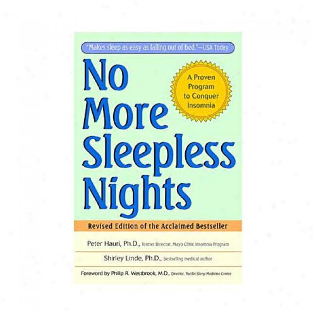 No More Sleepless Nights By Peter Hauri, Isbn 0471149047