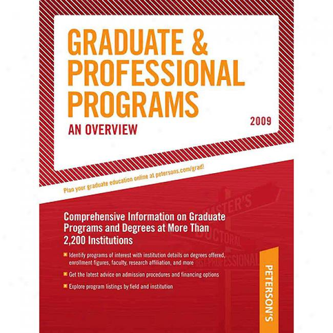 Peterson's Graduate & Professional Prorgams: An Overview