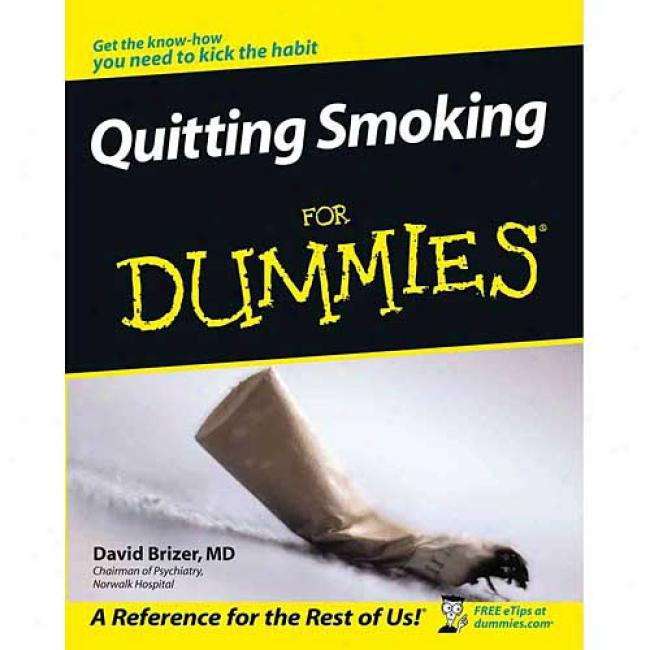 Quitting Smoking For Dummies By David Brizer, Isbn 0764526294