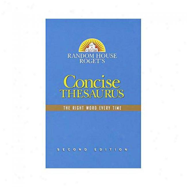 Randoj House Roget's Concise Thesaurus By Random House Reference, Isbn 0375425640