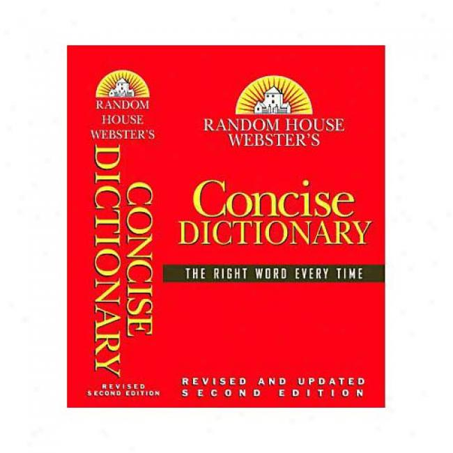 Random House Webster's Concise Dictionary By Random House Reference, Isbn 0375425632