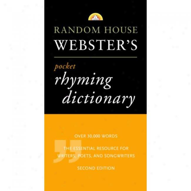 Random House Webster's Pocket Rhyming Dictionary By Inc Staff Ransom House, Isbn 0375705147