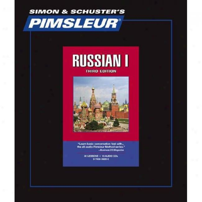 Russian I By Pimsleur Language Programs, Isbh 0743506200