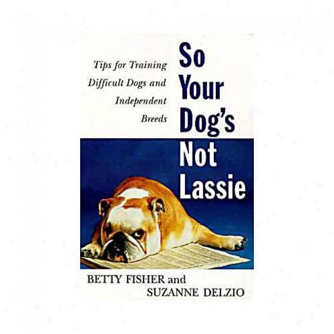 So Your Dog's Not Lassie: Tips For Training Difficult Dogs And Indepenefnt Breeds By Betty Fisher, Isbn 0062734571