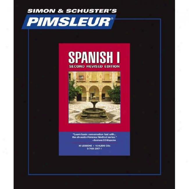 Spanish I By Pimsleur Language Programs, Isbn 0743523571
