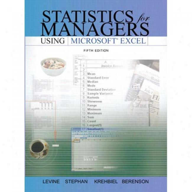 Statistic sFor Managers Using Excel And Student Cd Package