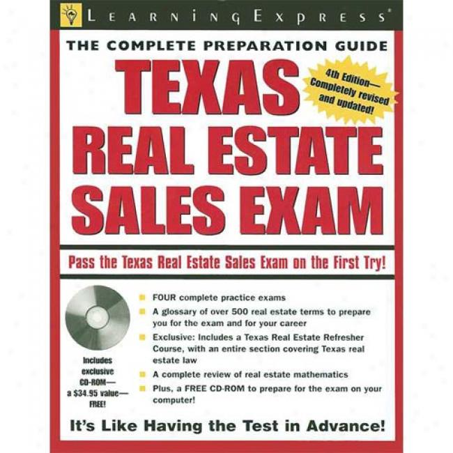 Texas Real Estate Sales Exam [with Cdrom]