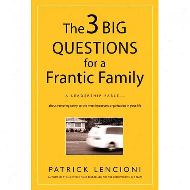 The 3B igg Questions Because of A Frantic Family: A Leadership Fable About Restoring Sanity To The Most Important Organization In Your Mode