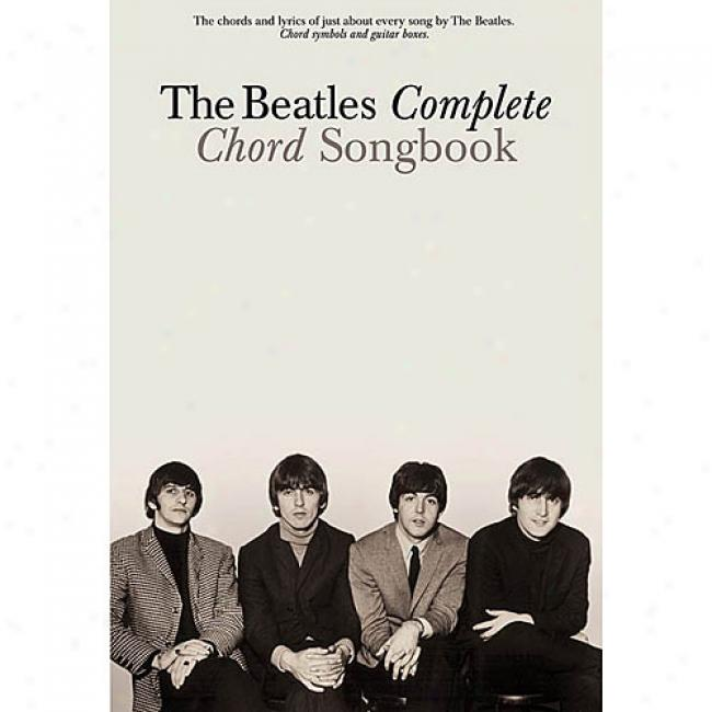 The Beatles Complete Chord Songbook By Beatles, Isbn 0634022296