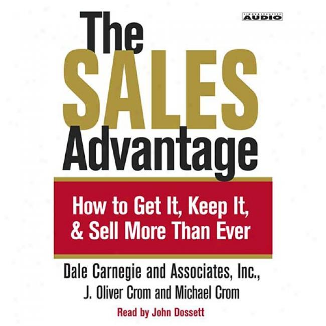 The Sales Advantage At Vale Carnegie & Associates, Isbn 0743524799