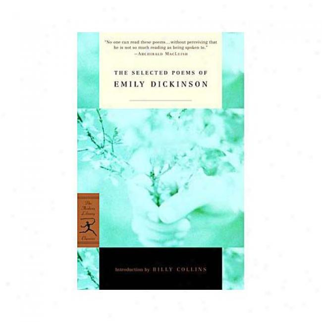 The Selected Poems Of Emily Dickinson By Emily Dickinson, Isbn 0679783350