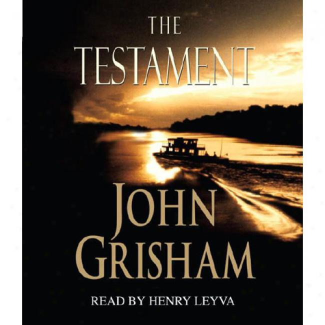 The Testament By John Grisham, Isbn 0553456350