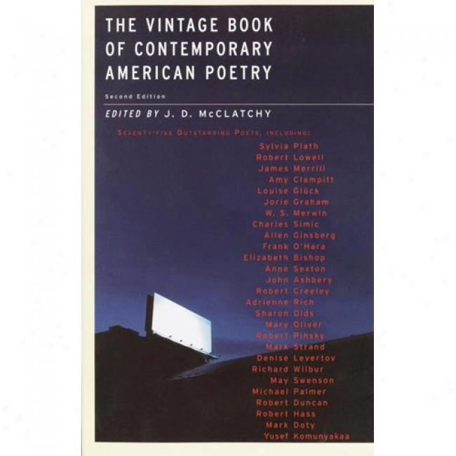 The Vintage Main division Of Conttemporary American Poetry By J. D. Mcclatchy, Isbn 1400030935