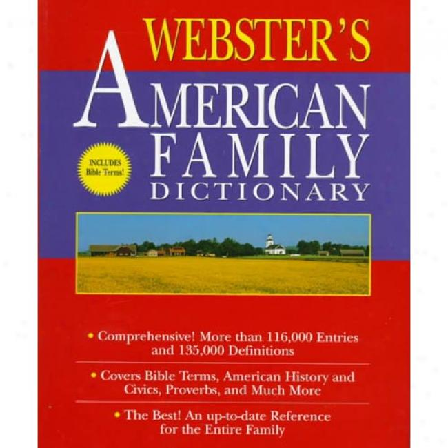 Webster's American Family Lexicon By Random House, Isbn 0679458018